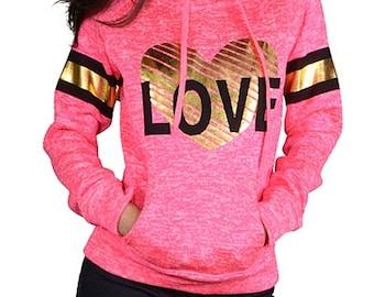 Love Hoodie, Love Shirt, Love Clothing, Love Sweatshirt, Womens Hoodies