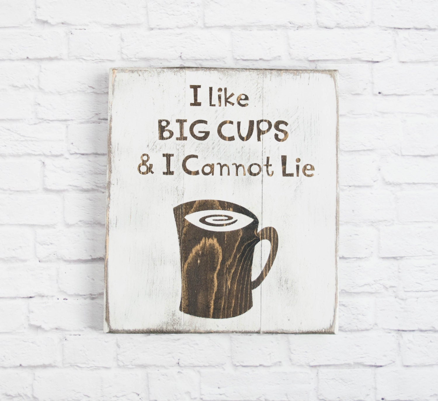 Coffee Lovers gift - Painted Kitchen Wood Signs C Coffee Wall Décor ...