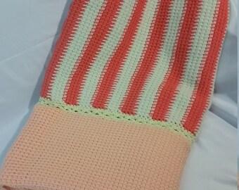 Peachy Keen Crochet Blanket