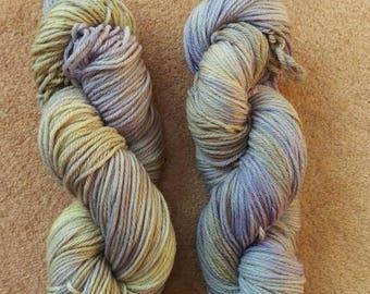 Lilac and yellow merino DK