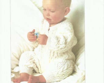 Beautiful Baby Childs All In One DK Knitting Pattern