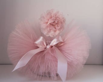 Tutu and Headband Set.Newborn Tutu, Baby Tutu, Newborn Photo Prop, Photo Prop,Pastel tutu, Blush tutu