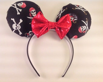 Pirates Mickey Minnie Mouse Ears