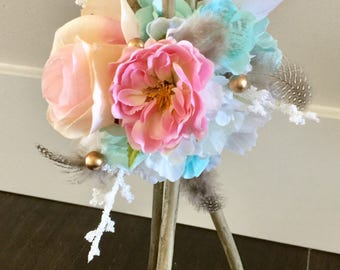 "Boho Tee Pee Centerpiece, Pow Wow Weddding, Baby Shower, Wild One Birthday,  Tribal Baby, Indian, Arrows, Coachella party, 12""x9"""