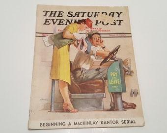 September 9, 1939 Saturday Evening Post Conner Flirting with War