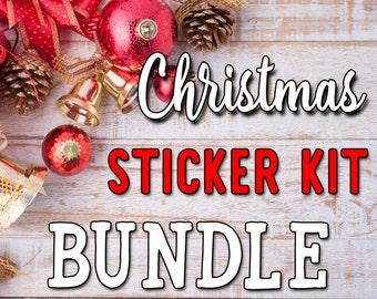 BUNDLE-- Christmas Weekly Sticker Kits - Vertical Planner Stickers Erin Condren Life Planner  ECLP