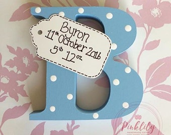 Personalised Letter with Name and Birth Tag