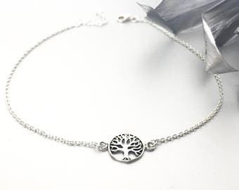 Tree Of Life Anklet, Charm Anklet, Delicate Anklet, Foot Jewelry, Boho Anklet, Gift Jewelry, Silver Accessories, Gypsy Anklet, (AS 59)