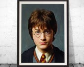 Harry potter art, harry potter paintings, harry potter poster, harry potter gift, harry potter decor, harry potter fan, harry potter gifts