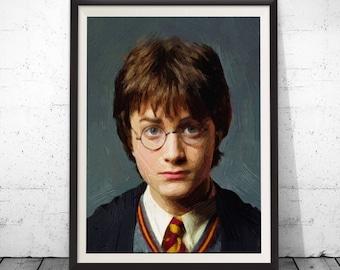 Harry potter art, harry potter paintings, harry potter poster, harry potter gift, harry potter decor, harry potter fan, harry potter gifts