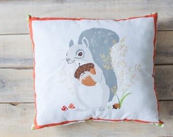 READY TO SHIP! Squirrel Pillow  30х30 cm