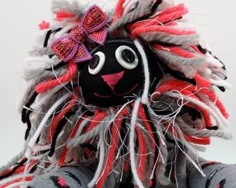Lepordia Lion, 16 in tall Lion Plush, Handmade plush sock lion toy, Lion Plush, Sock Lion, Lion, Kid Toy, Handmade Sock Animal, Sock Monkey