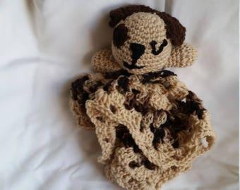 Crochet Puppy Lovie Blanket
