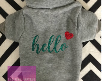 Dog Hoodie Sweater, Song Lyric Dog Clothing, Big Dog Hoodie, Small Dog Hoodie, Dog Hoodie, Dog Sweatshirt, Pet Sweater, Pet Hoodie