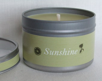 Sunshine Aromatherapy Candle of Pure Rapeseed Wax & 7 Pure Essential Oils
