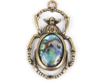 Paua Shell Beetle Pendant (STEAM180)