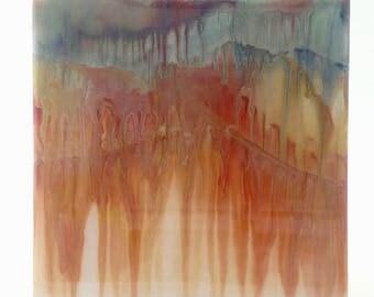 """Alcohol ink painting - Original art - Abstract Art - Resin art - Tile art - Joanna Murphy Art - Titled """"Alchemy"""""""