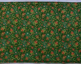 Set of 6 christmas placemats & 2 pot holders, placemats,cloth placemats, gift, pot holders