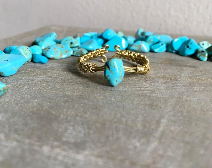 Turquoise mermaid ring