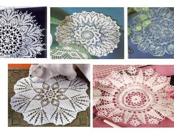 5 pcs crochet doily pattern-only diagram-in pdf-44