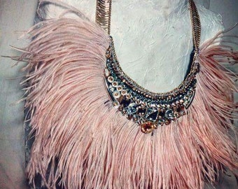 Necklace Rope and feathers