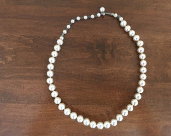 Vintage Pearl Necklace Faux Pearls 1950s