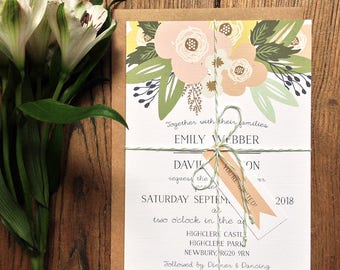 Printable Wedding Invitation Set | Printable Wedding Invitation Suite | Digital Invitation | DIY Wedding Invitation | Printable Invitations