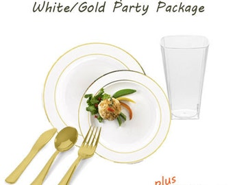 Splendor White with Gold VALUE Party Package