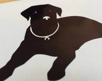 BLACK LAB Labrador Dogs Vinyl Decal . Free Shipping Yeti Window Car Laptop Wine Glass Coffee Beer Mug Frame Sports Bottle Sticker Tumbler