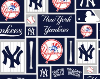 MLB - New York YanKees - woven cotton 60 inch width licensed major league baseball print baseball bat