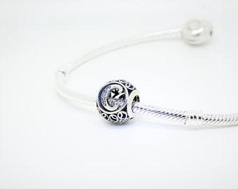 Pandora Letter C Silver Charm Vintage Fit Pandora Bracelets-Free Shipping In UK