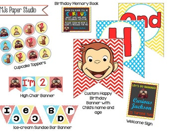 Curious George Birthday Party Decorations