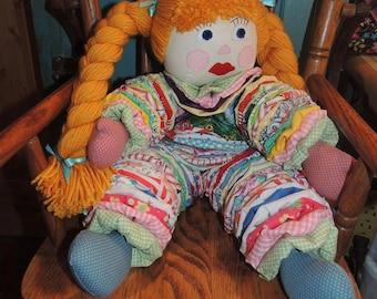 Handmade Vintage Style Yo-Yo Doll
