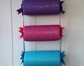 """head band holder or headband organizer """"Multiple sequins"""" in 4 tiers holder"""