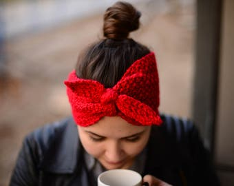 Cozy Kerchief Hand Knit Headband