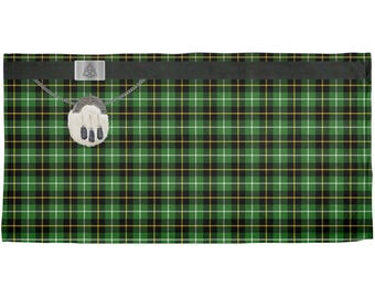 St. Patricks Day - Kilt Irish Green Tartan Plaid Costume All Over Beach Towel