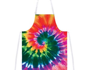 Spiral Tie Dye All Over Apron