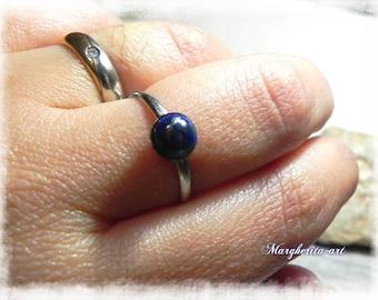 Handmade adjustable lapislazzuli blue ring, lapislazzuli ring, blue ring, gift for her, handmade ring size  USA 7-7,5