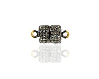 SDC-1687 Magnetic-Clasp  Pave Diamond Charm