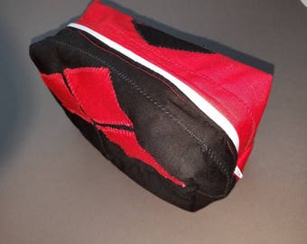 Harley Quinn/Suicide Squad inspired toiletry/cosmetic/art supply bag