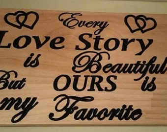 Love Story Sign,Wedding Sign,Anniversary Sign,Love Sign