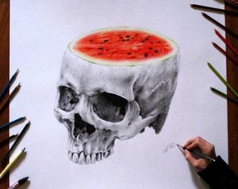 Water melon skull