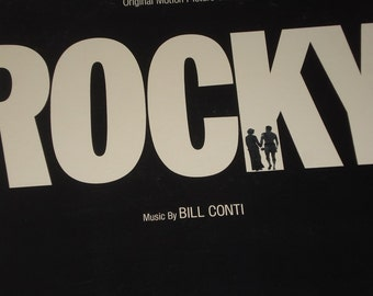Rocky Soundtrack Vinyl Record, vintage vinyl record album, Movie soundtrack