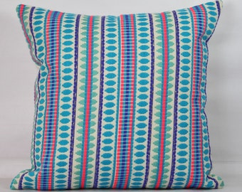 Turquoise pillow cover decorative throw pillow cover 20x20 pillow cover 18x18 inch pillow multi color throw pillows 26x26 striped pillow