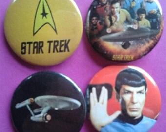 Set of 4 25mm Star Trek Enterprise badges