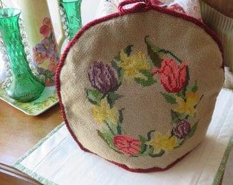 Victorian  Needlepoint Tea Cosy