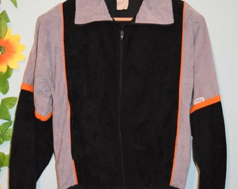 vintage 80s velour track jacket hipster