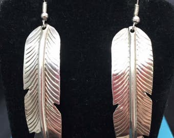 New Feather Sterling Silver Earrings
