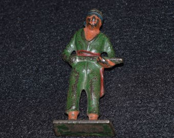 Vintage Cast Metal Toy Soldier, Painted Toy Soldier, Toy Soldier Figurines, Toy Pirate, Vintage Toy Soldiers, Collectible Toy Army Figures