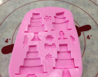 Mini Cake Decoration Silicone Mold